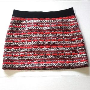 NWT Milly Multi-color Wool Tweed Mini Skirt Size 6